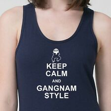 Keep Calm and Gangnam Style Funny dance T-shirt PSY parody Adult Tank Top