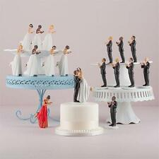 Mix & Match African American Bride Groom Porcelain Wedding Cake Toppers Figurine
