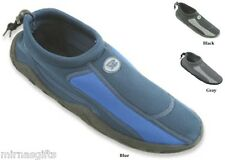 MEN'S SLIP ON WATER AQUA SHOES SOCKS BLACK BLUE GRAY SIZES 7 8 9 10 11 12