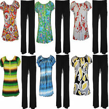 Womens Ladies Plus Size Gypsy Tops Trousers Full suit Dress Size 16 18 20 22 24