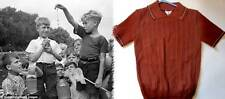 Childrens vintage tops polo shirts brown 40's 50's retro rockabilly NWT age 7