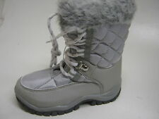 GIRLS SILVER SNOW BOOTS