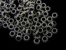 6mm Fancy Tibetan Silver Ring Spacer Beads Closed Ring Jewellery Beading ML