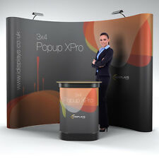 3x4 Curved XPro Popup Exhibition Stand