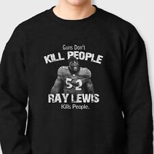 Guns Don't Kill People Ray Lewis Does T-shirt jersey Ravens Crew Neck Sweatshirt