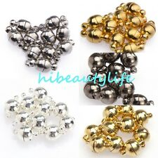 10 Sets Silver/Gold Plated Round Ball Magnetic Clasps 6/8mm For Jewelry Making