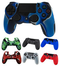 Silicone Rubber Gel Controller / Pad Skin Grip Case Cover Sony Playstation 4 PS4