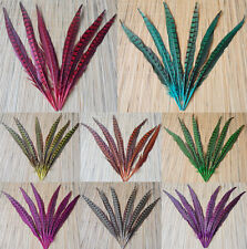10pcs beautiful Pheasant tail feathers 12-14cm 8 color optional
