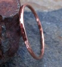 Solid Copper Textured Thin Band Ring - Extra Thin Stacking Rings - All Sizes