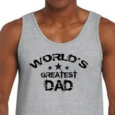 WORLDS GREATEST DAD Fathers Day Birthday T-shirt Anniversary Men's Tank Top