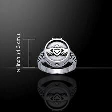 Irish Claddagh Silver Poison Ring TR1355