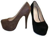 NEW WOMENS CONCEALED PLATFORM LADIES STILETTO HIGH HEEL COURT SHOES SIZE FP-8812
