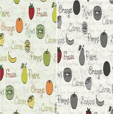 NEW LUXURY P&S HOME SWEET HOME FRUIT FOOD MOTIF LETTERING KITCHEN WALLPAPER