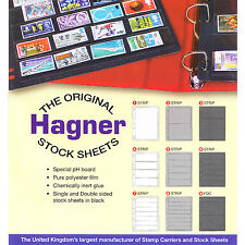 Hagner Single Side Stamp Stock Sheets Double Sided Stocksheets - Choose Size