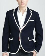 THOM BROWNE Men's Sports Jacket Blazer Coat Wool Navy Blue NEIMAN MARCUS Target