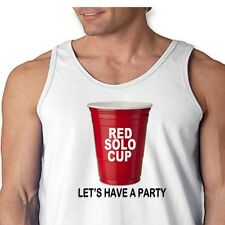 RED SOLO CUP Lets Have A Party Funny Drinking T-shirt College Humor Men's Tank