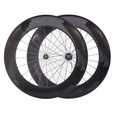 Carbon Fiber Road Bike Wheelset 88mm Tubular Rim Shimano/Sram 9/10/11 Speed