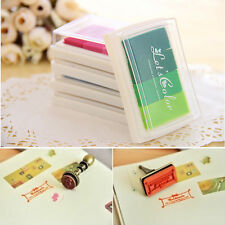 Multi-colors Ink Pad Oil Based For Rubber Stamps Wood Paper Fabric DIY Craft