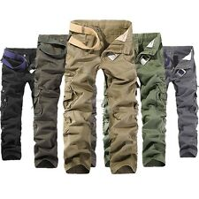 New Mens Casual Military Army Cargo Camo Combat Style Pants Toursers 28-36