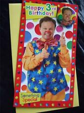 MR TUMBLE SOMETHING SPECIAL ~ OFFICIAL Birthday Card WITH BADGE ~GREAT SELECTION