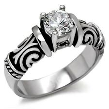 BRILLIANT RUSSIAN LAB CREATED SIMULATED SOLITAIRE ENGAGEMENT WEDDING RING TK082