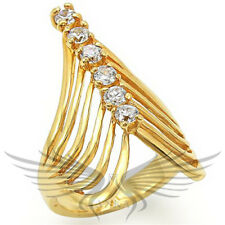CLASSY COCTAIL RUSSIAN LAB CREATED SIMULATED DIAMOND ANNIVERSARY RING 54701
