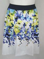 """NWOT Lane Bryant Plus Size Floral 10 Panel Flared Skirt w/2"""" Fabric Waistband"""