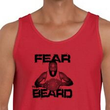 FEAR THE BEARD Houston Rockets T-shirt NBAs James Harden Men's Tank Top