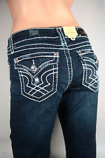 LA Idol Women's Sexy Jeans Boot Cut Thick Stitching and Ripped Pocket  NEW