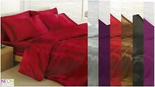 Satin Bedding Sets - 6 Piece Set - Duvet Cover + Fitted Sheet + 4 Pillowcases
