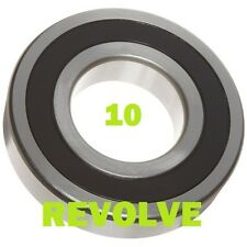 Quality 6200 to 6208 2RS ( Pack x 10 ) - Rubber Sealed Bearings - 10 Pack