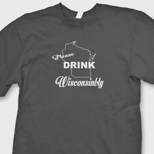 Please Drink WISCONSINBLY Cheesehead T-shirt Funny Beer Tee Shirt