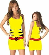 Authentic Wolverine X-Men Mutant Marvel Comics Costume Juniors Tank Dress S-Xl