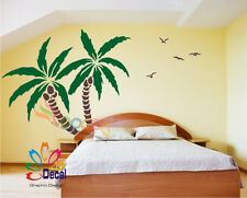 "Wall Decor Decal Sticker Removable Palm Trees 72""H x 83""W Two colors DC0116"