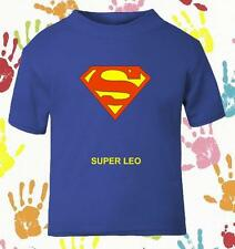 BABY'S BOYS SUPERMAN SUPER BOY PERSONALISED NOVELTY  T SHIRT BOY PERFECT GIFT