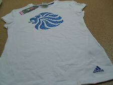 Official adidas Olympic LONDON 2012 Team GB Lion Head Ladies White T-Shirt