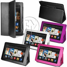 BOOK WALLET LEATHER CASE STAND COVER POUCH FOR AMAZON KINDLE NEW FIRE HD7 HD 7