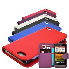 NEW WALLET BOOK FLIP MOBILE SMART PHONE CASE COVER FOR HTC DESIRE 300/ 500 / 700