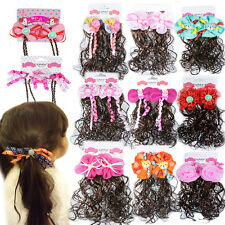 NEW Girls Baby Kids Children Hair Ponies Bobbles Bows Snaps Alligator Clips