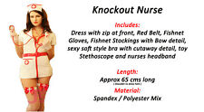 White and Red Nurse Outfit Halloween Party Fancy Dress Student COSTUME Doctor