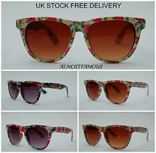 80'S Style retro fashion vintage wayfarer flower sunglasses womens good quality