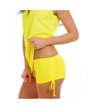Mesh Booty Hot Short Adjustable Scrunch Side Tie Sexy Beach Cover Up Bottom MHS