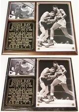 Sugar Ray Robinson Boxing Champion Hall of Fame Photo Plaque Pound For pound