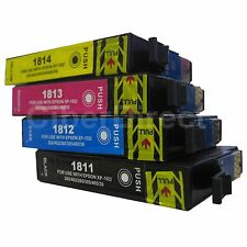 4 Generic Replacements for Epson 18XL Printer Ink Cartridges. UK VAT Invoice.