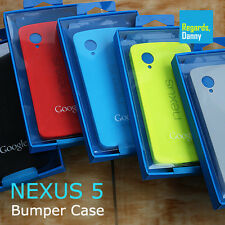Genuine Official Google Nexus 5 Bumper Case Hard TPU Cover for LG D820 D821