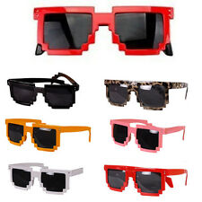 ClearSale Trendy Cool Pixel Unisex Glasses Pixelated Style Square Sunglasses