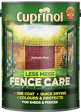 Cuprinol Less Mess Fence Care ALL COLOURS 5 Litre / 6 Litre ALL SIZES