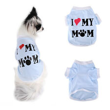 Dog Puppy Love Mommy T-shirt Apparel Costume Pet Chihuahua Summer Clothes S M L