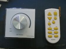 LED dimmer with manual and remote control