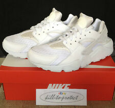 NIKE HUARACHE ALL TRIPLE WHITE Sz US UK6 7 8 9 10 11 PURE PLATINUM OG 318429-111
